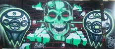 revost | green | skull | mexico