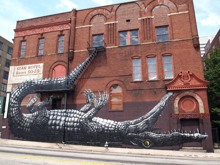 roa | crocodile | atlanta | north-america