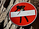 clet-abraham | roadsign | firenze | italy (8 votes)