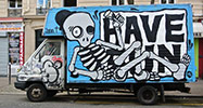 mygalo | truck | skeleton | paris