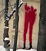 0331c | red | fire-extinguisher | snow | moscow | russia (26 votes)