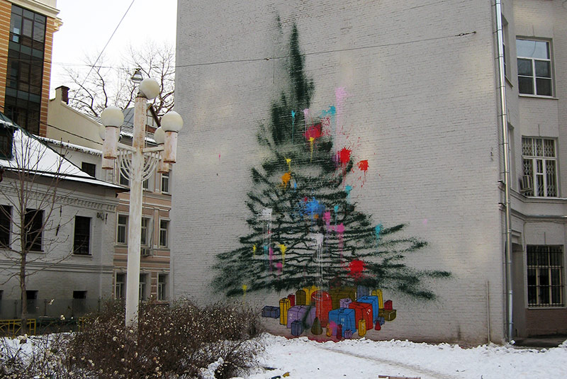 Graffiti Christmas tree