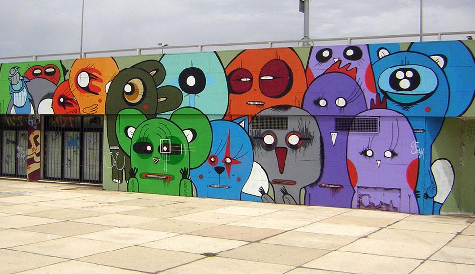 street art graffiti sixe pez sevilla 2005. Black Bedroom Furniture Sets. Home Design Ideas