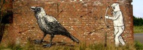 roa | 0331c | bird | doel | belgium (35 votes)