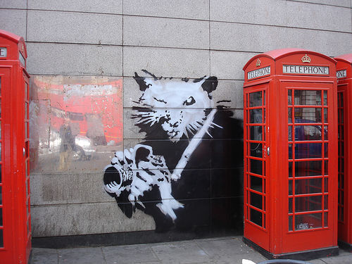 banksy | rat | phone | ukingdom