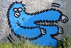 lesec | blue | monkey | volos | greece (45 votes)