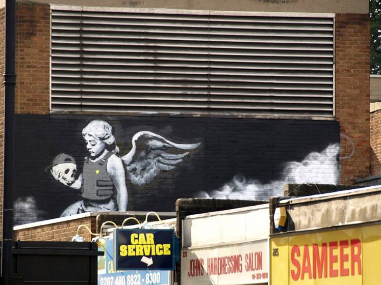 Banksy se vrátil. Pulp Fiction nahradil Anděl smrti